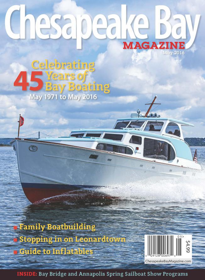 Huckins Yacht On The Cover Of Chesapeake Bay