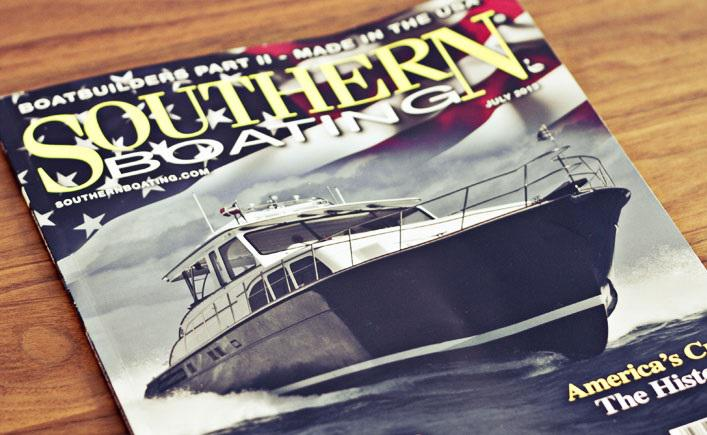 Huckins Yacht On The Cover Of Southern Boating