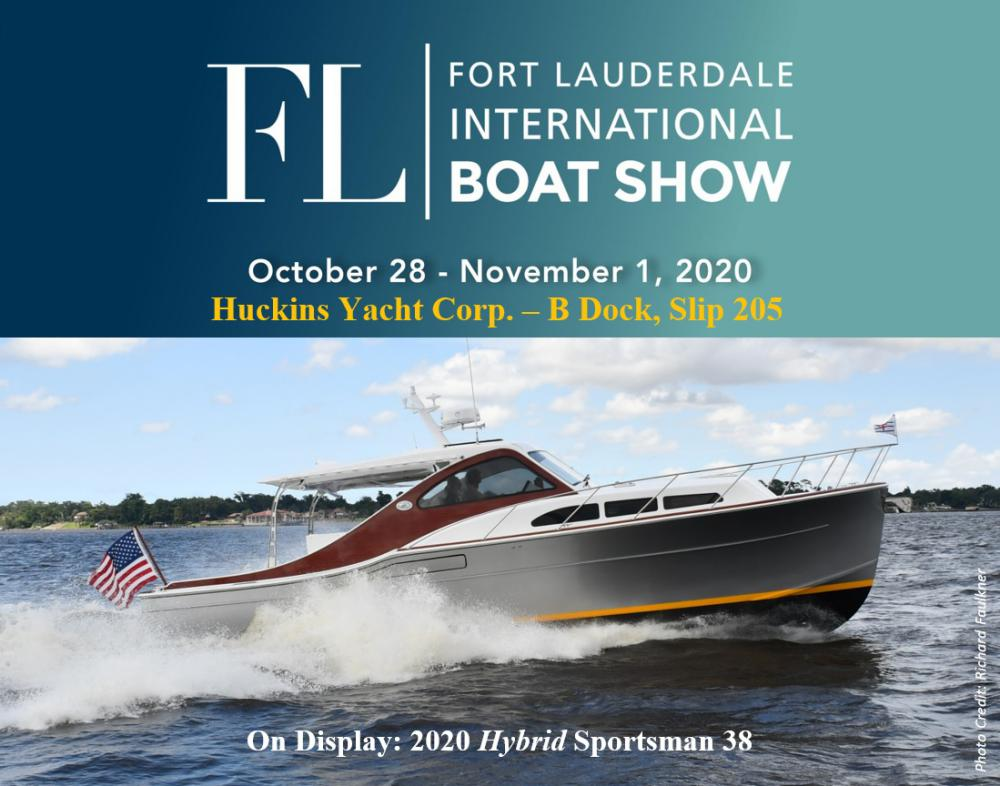 Come See the Sportsman 38 @ Ft. Lauderdale Boat Show Oct. 28- Nov 1, 2020