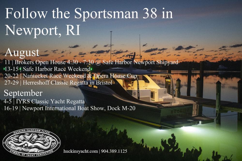 Follow the Sportsman 38 this summer in Newport, RI